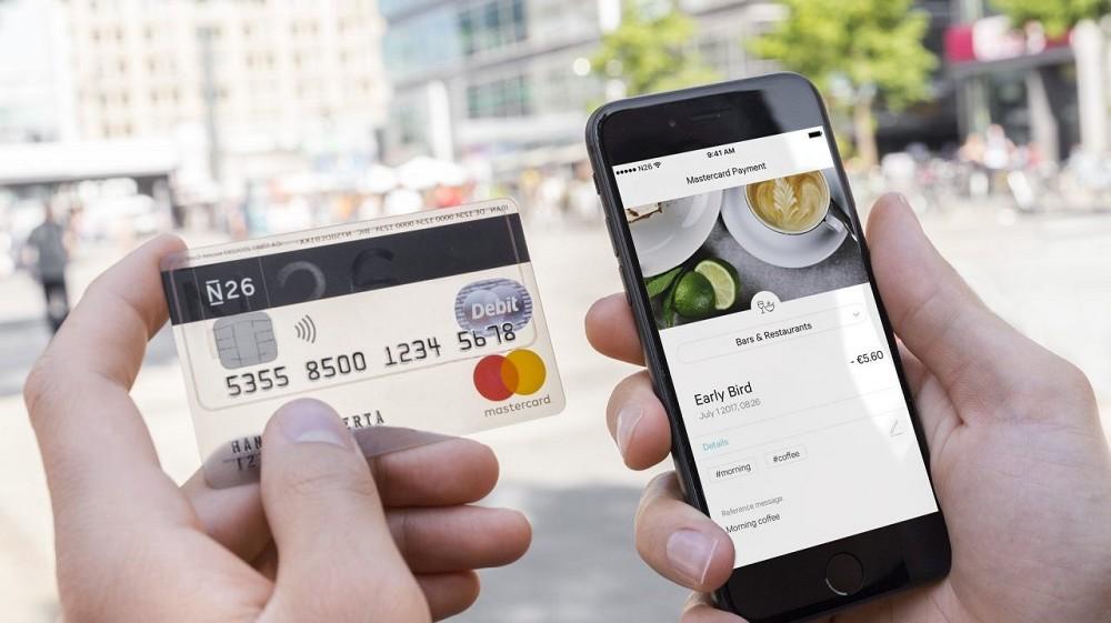 N26, carta di credito MasterCard e conto corrente in una uni