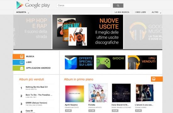 Google Play Musica Italia