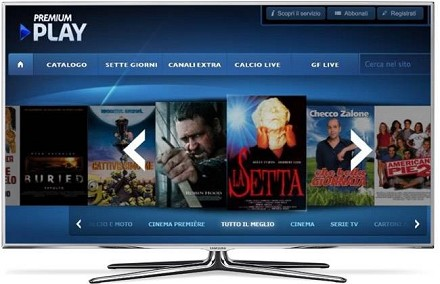 mediaset play su smart tv sony